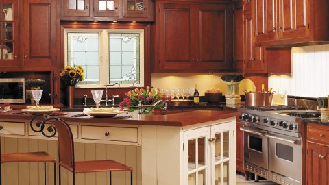 Custom kitchen in stunning Cypress Ridge model home. A custom build by Design Homes and Development.