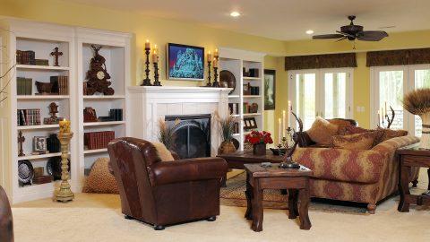Custom media room in stunning Cypress Ridge model home. A custom build by Design Homes and Development.