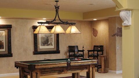 Custom billiard room in stunning Cypress Ridge model home. A custom build by Design Homes and Development.