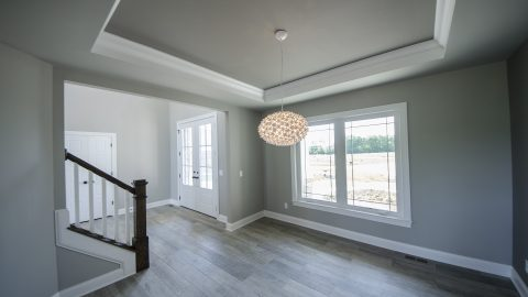 A custom dining area built by Design Homes and Development in Cypress Ridge.