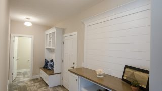 The Command Center and Mud Room of The Amber in Cypress Ridge by Design Homes