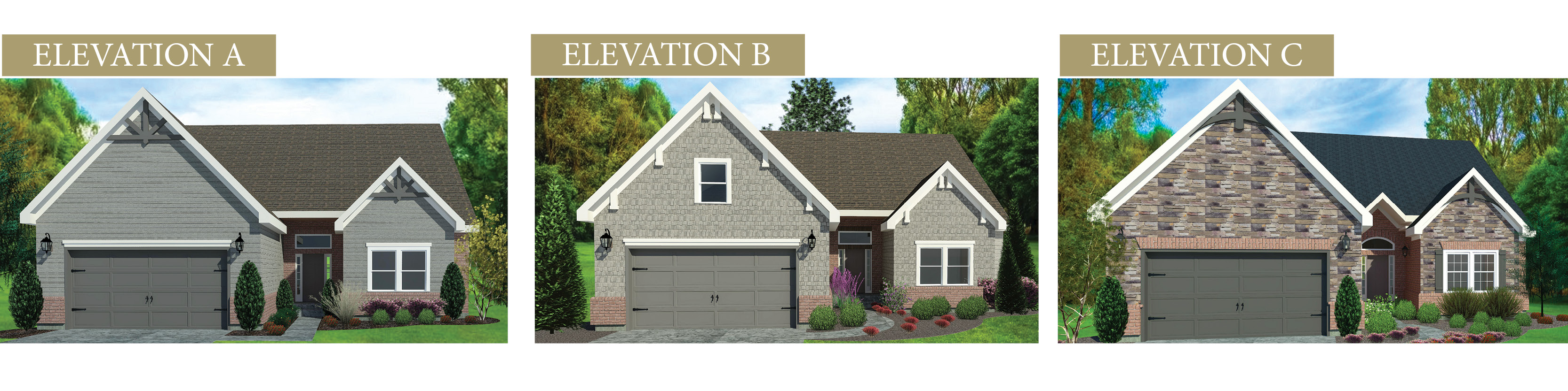 Custom rendering of The Brighton by Design Homes & Development.