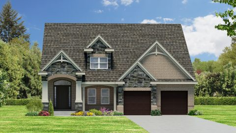 Custom renderings of the Mitchell. A standard plan by Design Homes and Development.