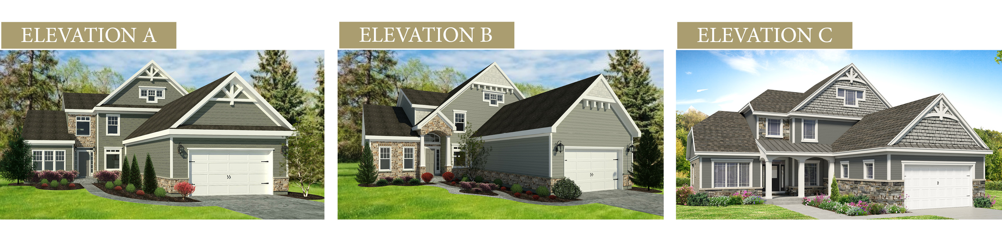 Custom renderings of the Sierra. A standard plan by Design Homes and Development.