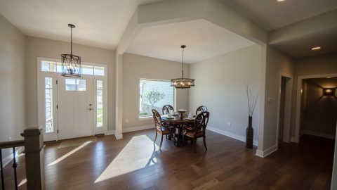 Custom dining room in Soraya Farms. Built by Design Homes & Development.