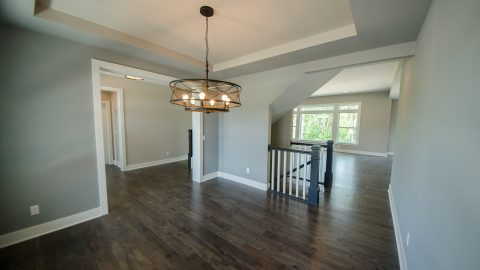 Custom dining room in Bridle Creek. Built by Design Homes & Development.