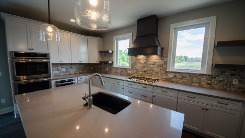 Custom kitchen by Design Homes and Development. Built by Design Homes & Development.