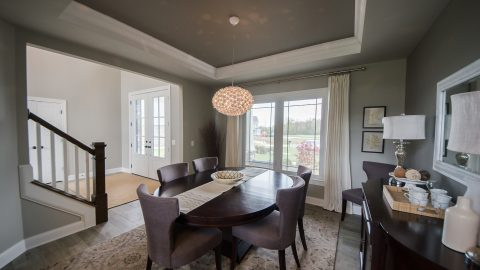 Custom dining room built by Design Homes and Development.