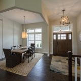 Custom dining room in the Oakwood. Built by Design Homes & Development.
