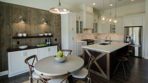 Custom dining room in the Oakwood. Built by Design Homes & Development.