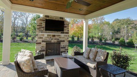 Custom exterior by Design Homes and Development.