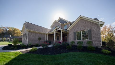 Custom exterior by Design Homes and Development.