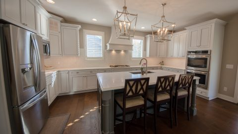 Custom kitchen by Design Homes and Development.