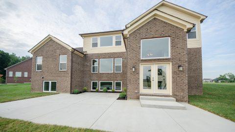 Custom exterior of built by Design Homes and Development.
