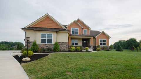 Custom exterior by Design Homes and Development. Built by Design Homes & Development.