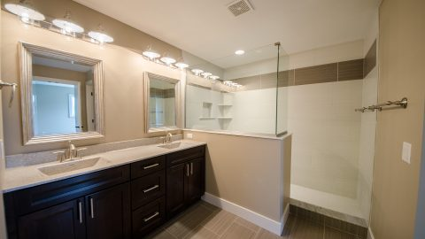 Custom bathroom by Design Homes and Development. Built by Design Homes & Development.