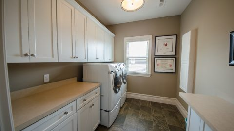 Custom Laundry Room in Soraya Farms by Design Homes