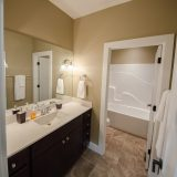 Bath in the Jocelyn II a custom home built by Design Homes