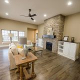 Great Room in the Jocelyn II a custom home built by Design Homes