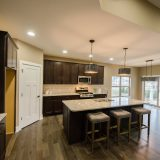 Kitchen in the Jocelyn II a custom home built by Design Homes