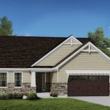 Custom exterior of the Jocelyn II. A new, market ready home by Design Homes.