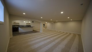 Basement of the Arianna in Saddle Creek by Design Homes