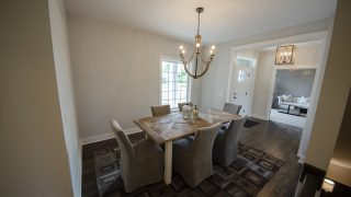 Dining Room of the Arianna in Saddle Creek by Design Homes