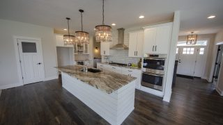 Kitchen of the Arianna in Saddle Creek by Design Homes