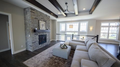 Great Room of the Austin in Saddle Creek by Design Homes