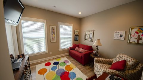 Bonus Room in a custom home by Design Homes