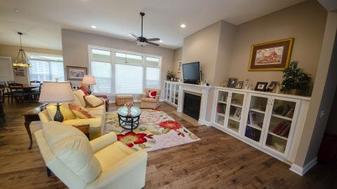 Great Room in a custom home by Design Homes
