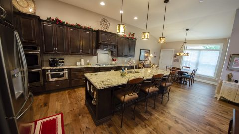 Kitchen in a custom home by design homes