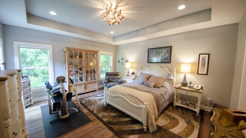 Master Bedroom in a custom home by Design Homes