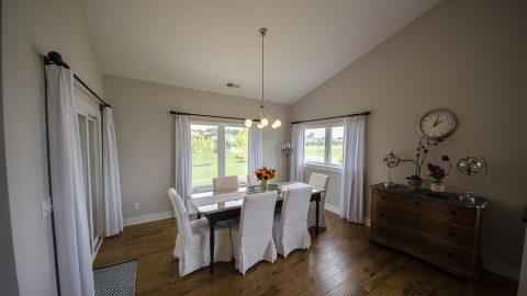 Dining Room of a custom home in Soraya Farms by Design Homes