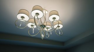 Custom Lighting in a home by Design Hom