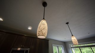 Custom Lighting in a home by Design Hom