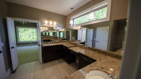 Custom Master Bath by Design Homes