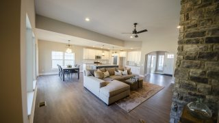 Great Room of the Jocelyn in Soraya Farms by Design Homes
