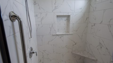 Custom Bathroom Shower in Soraya Farms by Design Homes