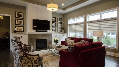 Custom Great Room in Soraya Farms by Design Homes