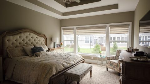 Custom Master Bedroom in Soraya Farms by Design Homes