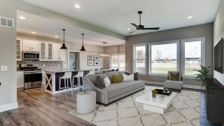 Great Room of the Brooklyn in Soraya Farms by Design Homes