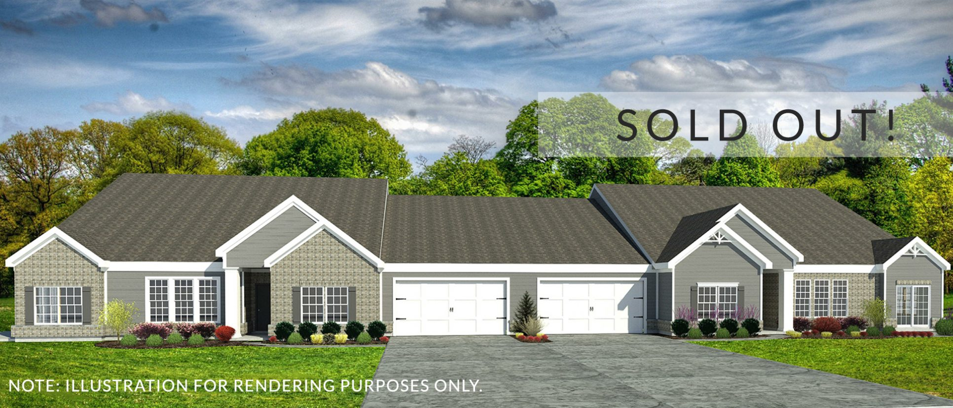 Rendering of the Custom Abbingtons. A set of condos in Soraya Farms by Design Homes and Development.