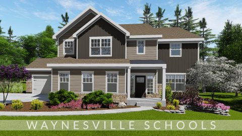 Custom exterior rendering of lot 6 Savannah Farms, The Amber. Built by Design Homes and Development.
