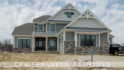 Custom exterior of The Arianna by Design Homes and Development.