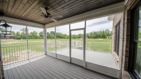 Custom Porch in the Arianna plan by Design Homes