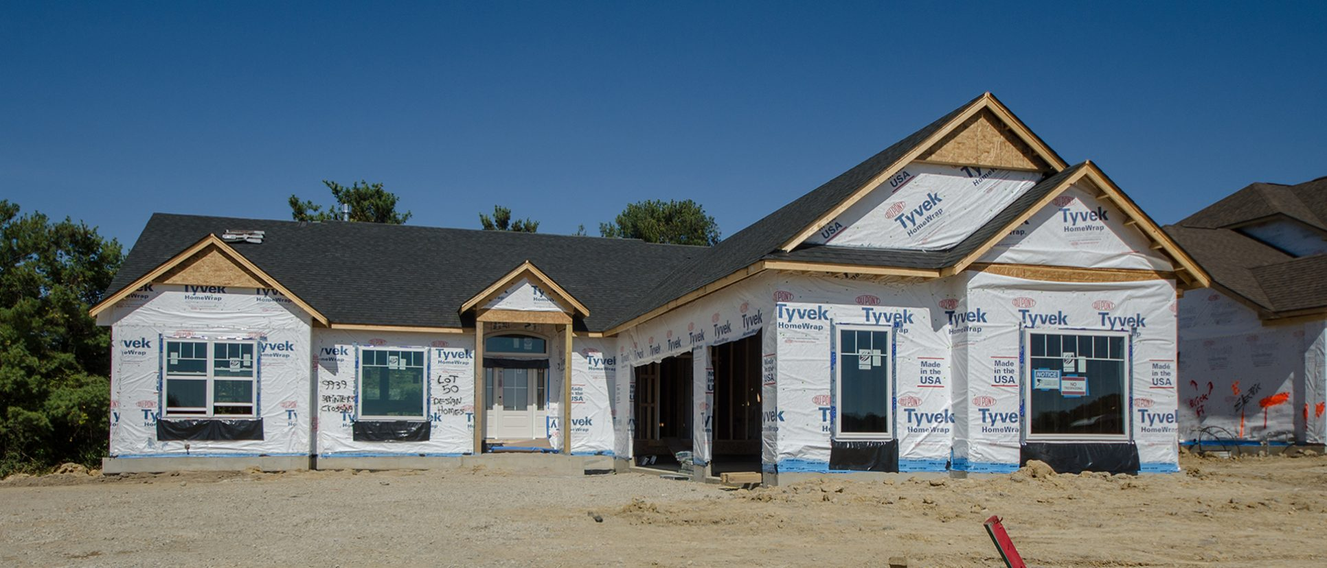 Custom exterior of The Austin. A market ready home located in Bridle Creek Ranch by Design Homes and Development.