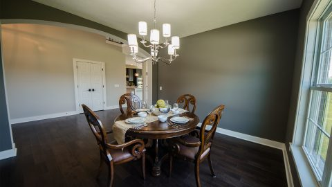 Custom dining room in the Charleston. Built by Design Homes & Development.