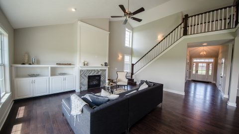 Custom great room by Design Homes and Development. Built by Design Homes & Development.