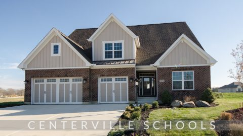 Custom exterior of The Charleston. A custom, move-in ready home by Design Homes & Development.